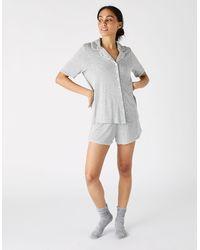 Accessorize Women's Grey Lightweight Jersey Shirt And Shorts Pyjama Set, Size: Xl