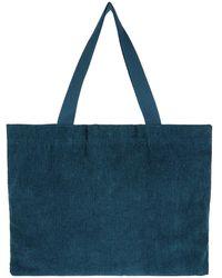 Accessorize Cord Shopper Bag Teal - Blue