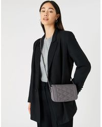 Accessorize Chrissy Quilted Chain Cross-body Bag Grey