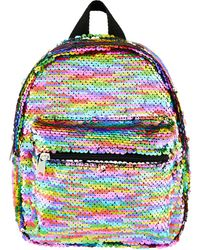 Accessorize Rainbow Sequin Backpack - White