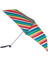 Accessorize Rainbow Stripe Superslim Umbrella - Blue