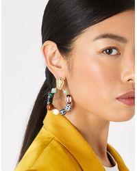 Accessorize Cassie Ceramic Bead Statement Earring - Multicolour