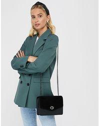 Accessorize Women's Black Leather Clara Cross-body Bag