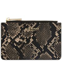 Accessorize Shoreditch Snake Effect Card Holder - White