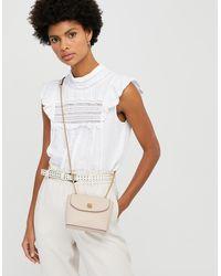 Accessorize Mini Cross-body Bag With Chain Strap - White