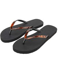 Accessorize Tortoiseshell Eva Thong Flip Flops Black