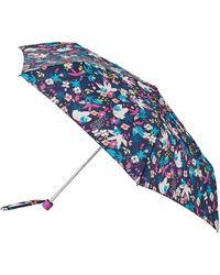 Accessorize Floral Superslim Umbrella - White