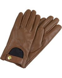 Accessorize Leather Driving Gloves - Brown