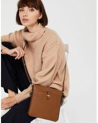 Accessorize Modern Messenger Bag - Brown