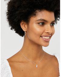 Accessorize Sterling Silver Best Friends Pendant Necklace Set - Metallic
