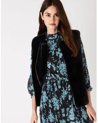 Accessorize Luxe Faux Fur Gilet - Black