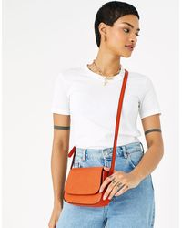 Accessorize Ruby Saddle Cross-body Bag Orange