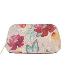Accessorize - Mocha Printed Makeup Bag - Lyst