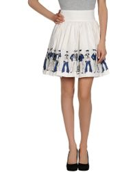 Olympia Le-Tan Mini Skirt - Lyst