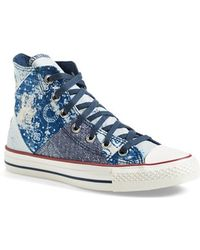 Converse Chuck Taylor All Star 'Multi Bandana' High Top Sneaker blue - Lyst