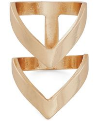 Zad Fashion Inc. Put A Ring Chevron It Ring in Gold - Lyst