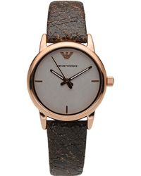 Emporio Armani Gray Wrist Watch - Lyst