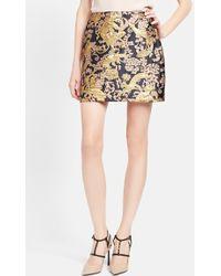 Lanvin Short Brocade Skirt - Lyst
