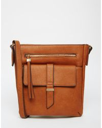Warehouse - Tab Front Cross Body Bag - Lyst