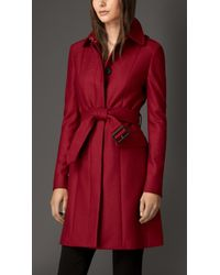 Burberry Compact Virgin Wool Military Coat - Lyst