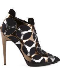 Pierre Hardy Metallic Panel Boots - Lyst