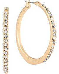 Kenneth Cole Pave Hoop Earrings - Metallic
