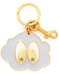 Stella McCartney Goggly Eye Cloud Face Keyring blue - Lyst