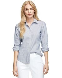 Brooks Brothers Non-iron Fitted Brookscool Stripe Dress Shirt - Lyst