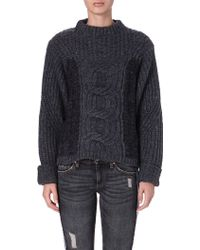 Etoile Isabel Marant Romer Cable-knit Knitted Jumper - Lyst