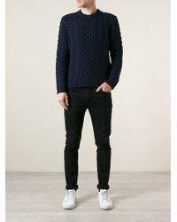 Rag & Bone Cable Knit Sweater - Lyst