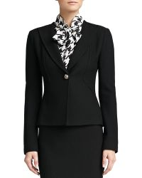 St. John Boucle Knit Collar Jacket - Lyst