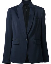 Rag & Bone Blue Blazer Jacket - Lyst