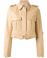 J.W. Anderson Chest-Pocket Leather Jacket - Lyst