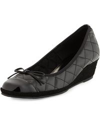 Sesto Meucci Margie Quilted Leather Wedge Pump - Lyst