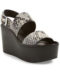 d6ef5d17031 Vince - Idalia Leather Platform Sandals - Lyst