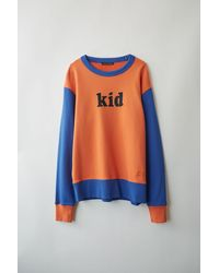 Acne Studios Fa-ux-swea000002 Orange/blue Colourblocked Sweatshirt - Multicolour