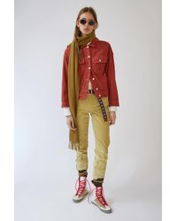 Acne Studios - Oversized Denim Jacket burnt Paprika Red - Lyst