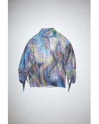Acne Studios Fn-wn-blou000565 Multi Oversized Shirt - Blue