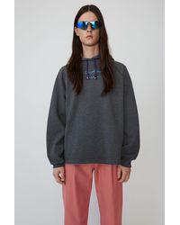 Acne Studios Video-print Hooded Sweatshirt anthracite Grey