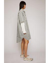 Acne Studios - Robe-chemise rayée - Lyst