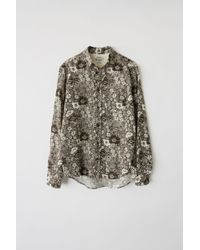 Acne Studios - Isherwood Floral W Dark Brown/white Classic Fit Shirt - Lyst
