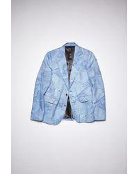 Acne Studios Denim Print Jacket - Blue
