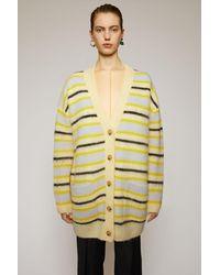 Acne Studios Striped Cardigan yellow/multi