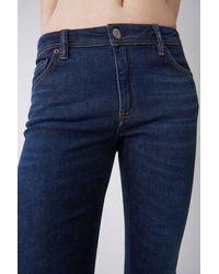 Acne Studios Climb Dark Blue3 Jeans in Stretch-Passform - Blau
