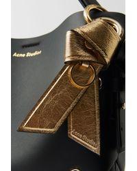 Acne Studios Porte-clés en cuir - Métallisé