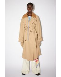 Acne Studios Lined Trench Coat - Natural