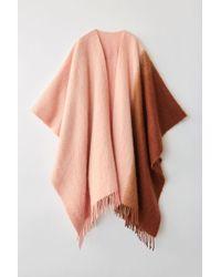 e349af60d Acne Studios Kelow Dye Poncho Brown/pink Two-tone Poncho