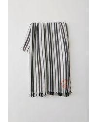 Acne Studios - Striped Scarf black/white - Lyst