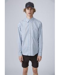 Acne Studios Oak Check Blue Safari Shirt