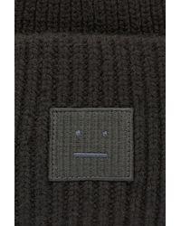 Acne Studios Bonnet avec patch Face - Noir